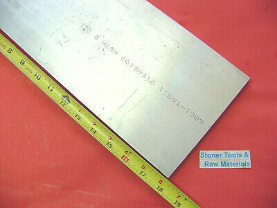 "1/2"" X 6"" ALUMINUM 6061 FLAT BAR 18"" long .50"" SOLID T6511 PLATE Mill Stock"