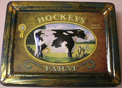 HOCKEY'S FARM 3D BISCUIT TIN WITH DAIRY COW MOTIF Collectable