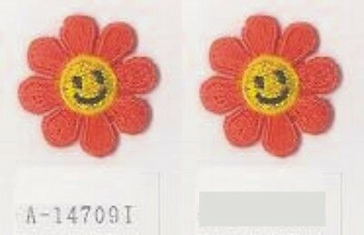 """1/"""" Spring Daisy Smiley Flower Embroidery patch"""
