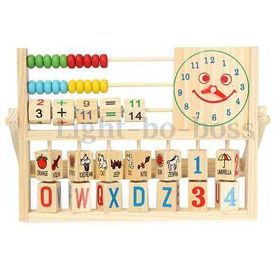 Children Baby Kids Learning Educational Versatile Flap Learn Abacus Wooden Toys