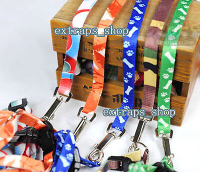 Small Dog Pet Puppy Cat Adjustable Nylon Harness with Lead Leash Traction Rope E
