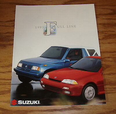 Original 1993 Suzuki Full Line Sales Brochure 93 Sidekick Samurai Swift