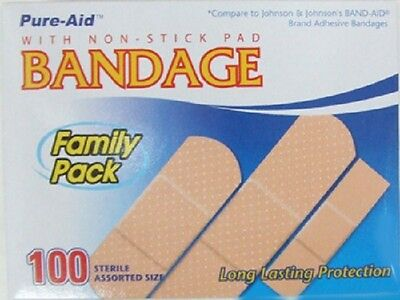 New Case Of 400 Assorted Sizes Bandaids Made In The Usa & Individually Wrapped!