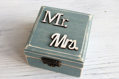 Wedding ring box, ring box, ring holder, personalized ring holder bearer Rustic