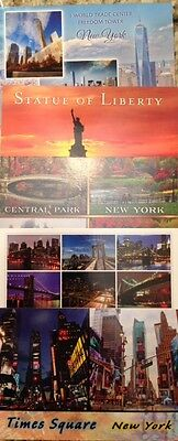 New York City Postcard Lot Of (5) Freedom Tower Statue Of Liberty Times Square !