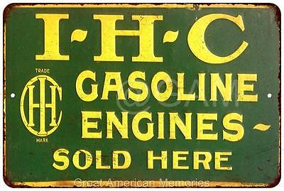 IHC Gasoline Engines Vintage Look Reproduction Metal Sign 8x12 8121975