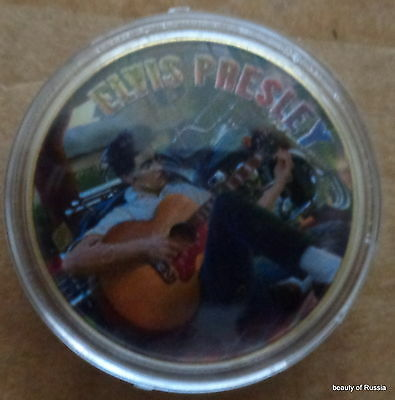 ELVIS PRESLEY THE KING OF ROCK N ROLL  24K GOLD  PLATED MEMORABILIA COIN #29s