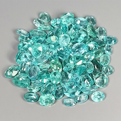36.73 Cts Natural UNHEATED Rare Greenish Blue APATITE (88 Pcs) Oval Gem Lot !!