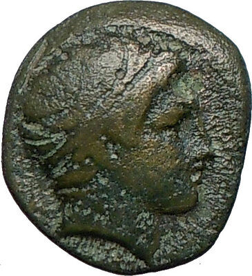 Philip II Alexander the Great Dad OLYMPIC GAMES Ancient Greek Coin Horse i24557