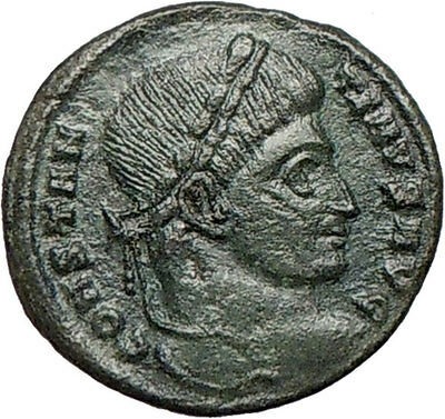 Constantine I The Great 320AD Ancient Roman Coin Wreath of sussess i24677