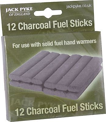 Jack Pyke 12 Solid Fuel Charcoal Refill Sticks Hand Warmer