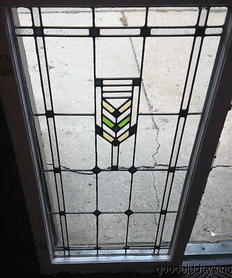 "Pair of  Prairie Style Stained Glass Doors / Windows From Chicago 45"" by 24"""