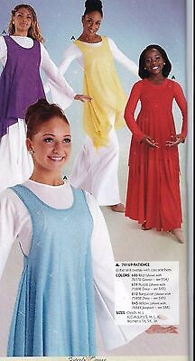 NWT Glittered Praise Tunic Top 74169 Liturgical full point 4 colors Ladies/Girls