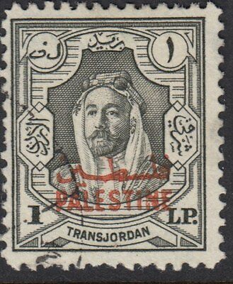 PALESTINE : 1948 £P1  grey of JORDAN opt PALESTINE SG P16 fine used