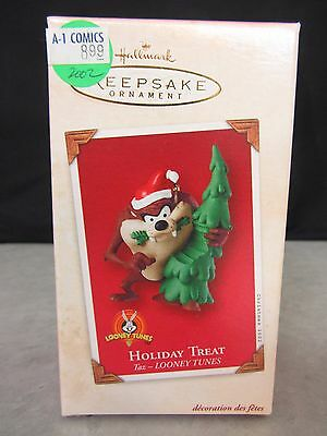 Looney Toons Holiday Treat Taz Tasmanian Devil ~ Hallmark Keepsake Ornament 2002