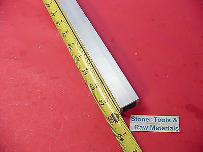 "1""x 1""x 1/8"" Wall x 48"" Long ALUMINUM SQUARE TUBE 6063 T52 1"" SQ x .125"" W New"