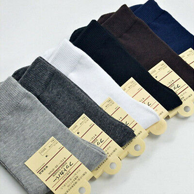 Lot 1/6/12 Pairs Man Solid Cotton Business Thin Cotton Socks Casual Sport Socks