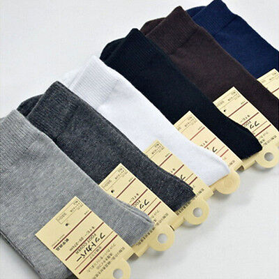 Lot 6/12 Pairs Man Solid Cotton Business Thin Cotton Socks Casual Sport Socks