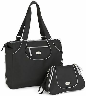 Chicco Layla Tote & Dash Bag Baby Diaper Bag Black NEW w/ Changing Pad