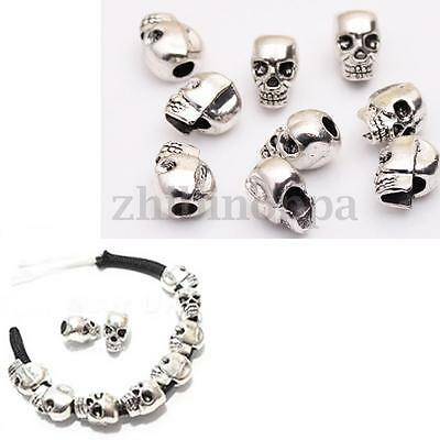 Paracord Skull Beads -10PCS paracord bracelet lanyard pacecounter necklace key