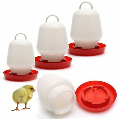 Poultry Birds Feeder Water Drinking Cups Chicken Hen Fowl Feed Drinkers