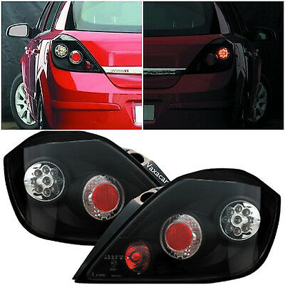 Vauxhall Astra 5 Door 04-10 Black Bright LED Rear Back Tail Lexus Lights - Pair