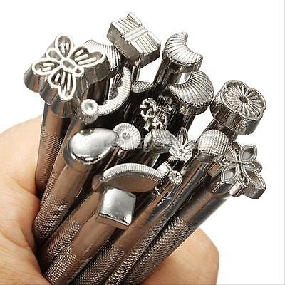 20PCS Leather Tools Working Saddle Making Set Carving Craft Stamps Punch DIY