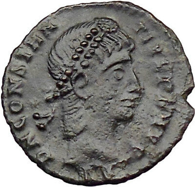 CONSTANTIUS II son of  Constantine the Great  Ancient Roman Coin Wreath i29864