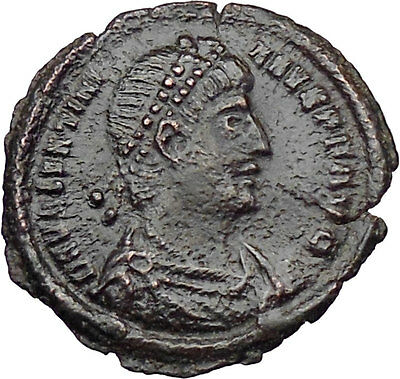 VALENTINIAN I 364AD Ancient Roman Coin Nike Victory Cult Angel  i29859