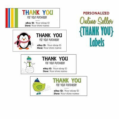 180 eBay SELLER THANK YOU Personalized Labels Stickers Business