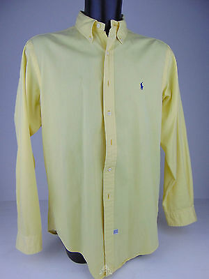 Vintage USATO 90 POLO RALPH LAUREN Camicia L Shirt Large Used Top Giallo Yellow
