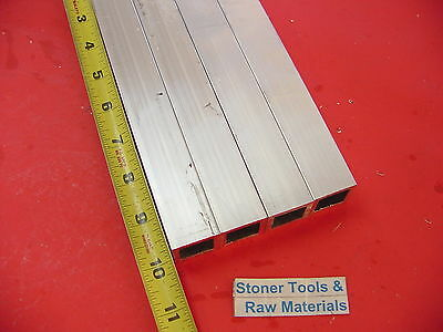 "4 Pieces 1""x 1""x 1/8"" Wall x 10"" Long ALUMINUM SQUARE TUBE 6063 T52 1""SQ x .125"""
