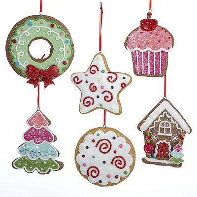 Christmas Candy Frosted Gingersnap Cookie Ornaments kachd 1189 NEW