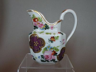 8P110 1800s EARLY PASTE PORCELAIN OLD PARIS STYLE CREAM JUG, as is