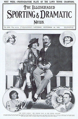 THEATRE The Smith Family Musical Play at the Empire Theatre - Vintage Print 1922