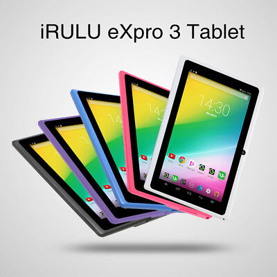 """iRULU eXpro3 7"""" Android 6.0 Marshmallow 8GB Quad Core Dual Camera Wifi Tablet PC"""