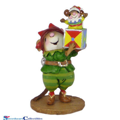 Wee Forest Folk M-550 Christmas Santa's Elf Mouse New 2015