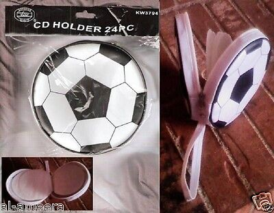 Portable Carrying CD Case Holder: Soccer Ball with Handle: Holds 24 CD's / DVD's