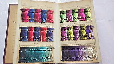 1900 French LYON Catalog SILK FIBER DYED IN ANILINE DYES, 867 Individ. Samples