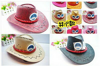 One piece Portgas D Ace Cosplay Hat Cap Costume Cowboy New Free Shipping BOXES