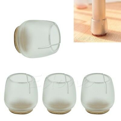 Chair Leg Cap Rubber Feet Protector Pads Furniture Table Covers Round Bottom New