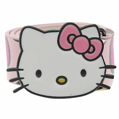 Hello Kitty Kids Girls Childrens Print Belt Waistband Waist Strap Buckle