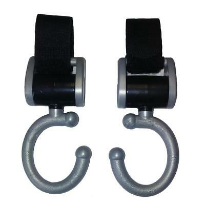 Tippitoes Swivel Hooks for Pram Buggy Pushchair Universal