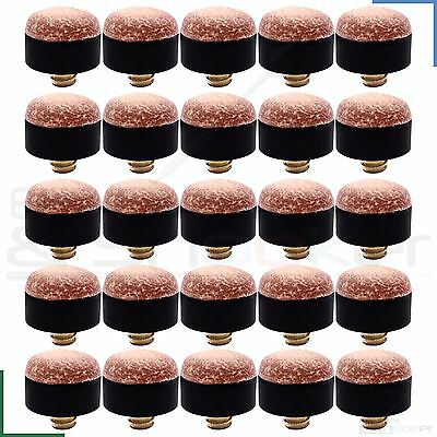 Snooker Pool Billiard Screw on Leather Cue Tips 10, 11, 13, 12mm - Various Qty's
