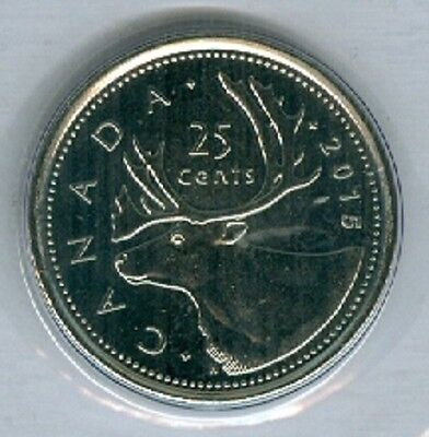 2015 Quarter 25¢ Twenty Five Cent '15 Canada-Canadian BU Coin UnCirculated RCM