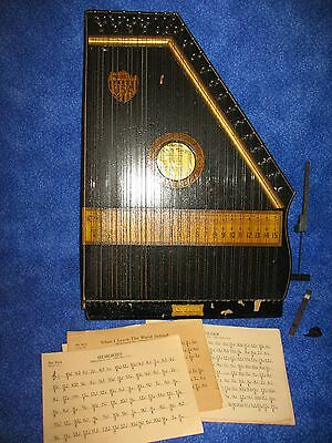 1880s Mint In Box Musical Marx & Marx Liberty Harp Antique Music Instrument
