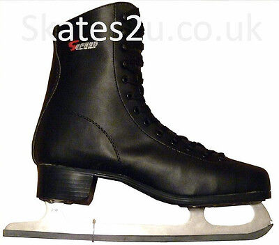 Mens S-Speed SS520 Black Ice Figure Skates UK size 5