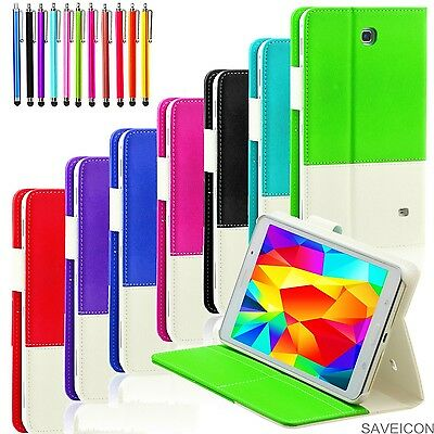 For Samsung Galaxy Tab 4 8 8.0 Inch Tablet Folio Hybrid Case Cover Stand SM-T330