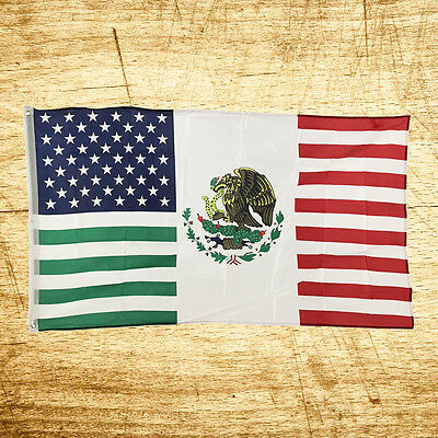 New 3x5 USA USA America Mexico Friendship Flag Polyester American Banner