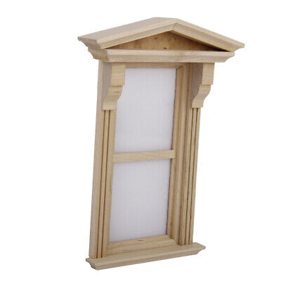1:12 Wooden Plain Sliding Sash Window w/ Plastic Slips Dollhouse Miniature